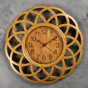 Часы настенные, серия: Интерьер, 'Секвойя' 25х25 см, плавный ход Ош