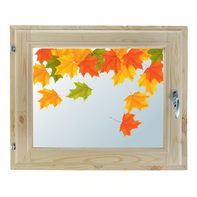 Окно 40х60 см, 'Осенние краски', однокамерный стеклопакет, хвоя Ош