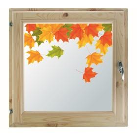 Окно 50х50 см, 'Осенние краски', однокамерный стеклопакет, хвоя Ош