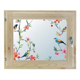 Окно, 40×60см, 'Пташки', однокамерный стеклопакет Ош