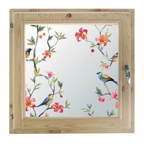 Окно, 50×50см, 'Пташки', однокамерный стеклопакет Ош