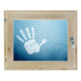 Окно, 40×60см, 'Рука', однокамерный стеклопакет Ош