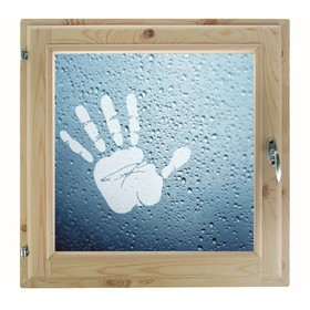 Окно, 50×50см, 'Рука', однокамерный стеклопакет Ош