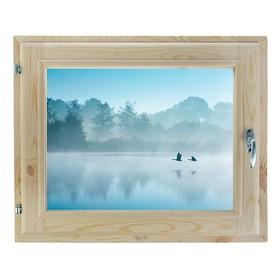Окно, 40×60см, 'Туман над рекой', однокамерный стеклопакет Ош