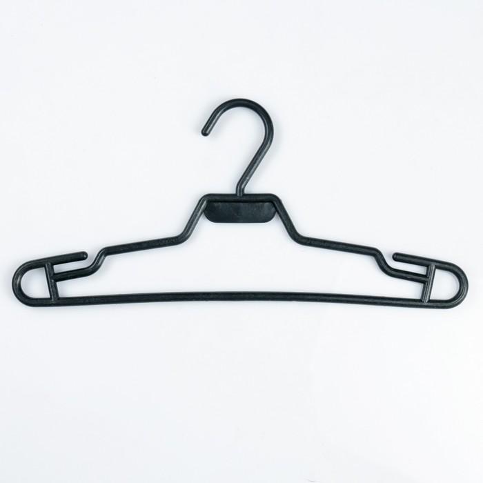 Вешалка-плечики для одежды подростковая, размер 42-44, цвет чёрный