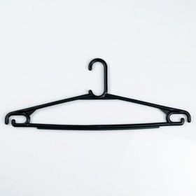 Вешалка-плечики плательная, размер 46-50, цвет чёрный Ош
