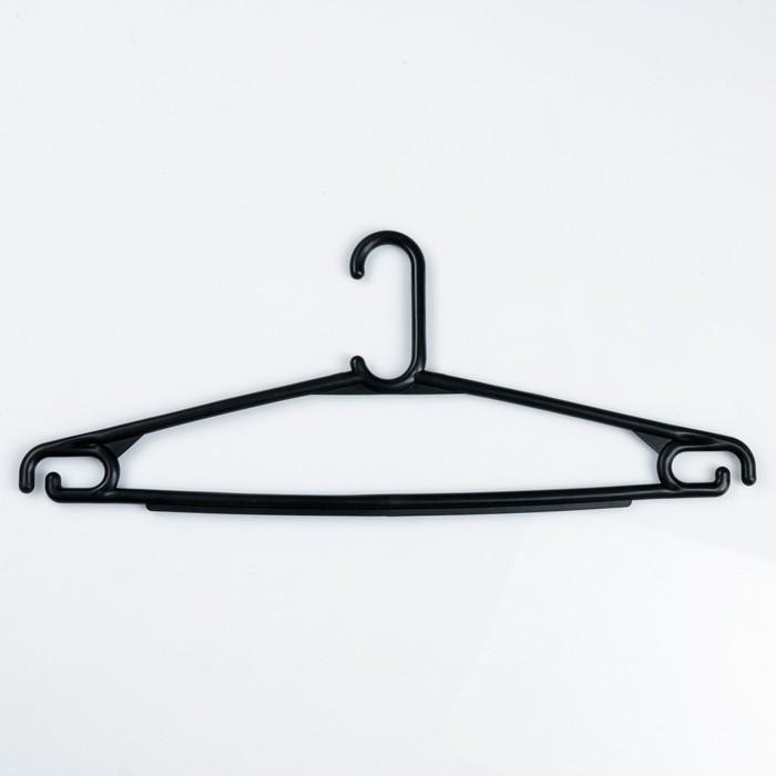 Вешалка-плечики плательная, размер 46-50, цвет чёрный