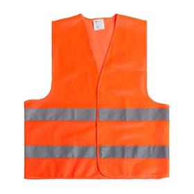 Жилет сигнальный TORSO, светоотражающий, оранжевый, 2 класс, размер 2XL, гост Ош