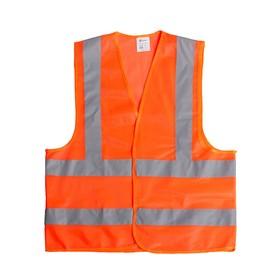 Жилет сигнальный TORSO, светоотражающий, оранжевый, 3 класс, размер 2XL, гост Ош