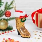 Конфетница «Сапожок», с рождественским веночком, цвета МИКС