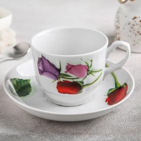 Чайная пара «Королева цветов», 250 мл