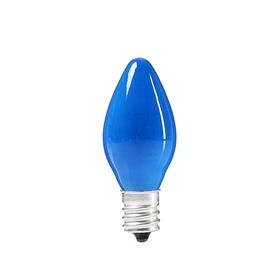 Лампочка накаливания E12, 10W, для ночников и гирлянд, матовая синяя, 220 В Ош