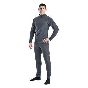 Комплект мужской термо «Арктик» (джемпер, брюки), цвет серый, размер 44, рост 170