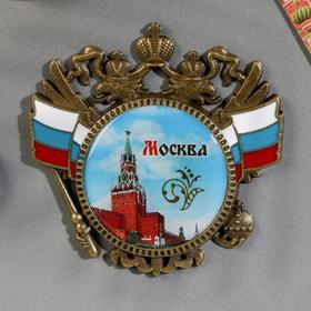 """Магнит-герб """"Москва"""" (Спасская башня), 6 х 6 см"""