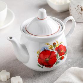 Чайник «Маки красные», 550 мл Ош