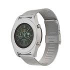 """Смарт-часы NO.1 S9, цветной дисплей 1.3"""", стальной ремешок, серебристые"""