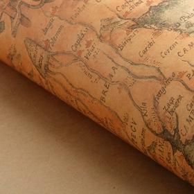 Бумага упаковочная 'Карта', песочный, 50 х 70 см Ош