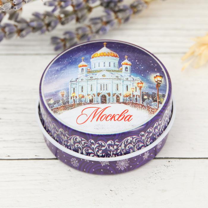 Свеча в баночке Москва. Храм Христа Спасителя