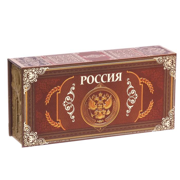 Шкатулка в картонной обложке Россия
