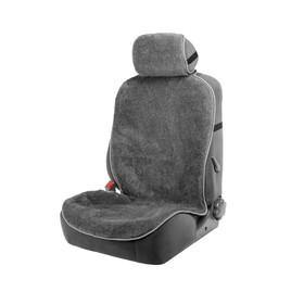 Накидка на сиденье, натуральная шерсть,145 х 55 см, серая