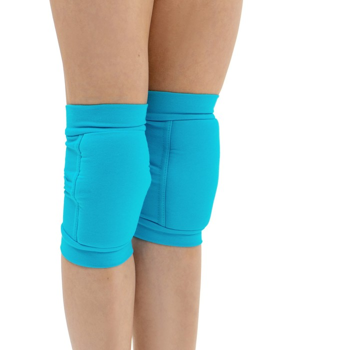 Наколенники для гимнастики и танцев с уплотнителем, размер XXS (3-5 лет), цвет бирюза