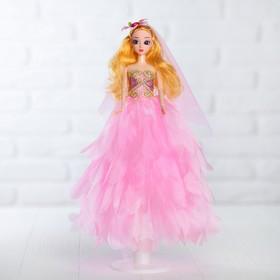 Кукла на подставке «Принцесса», розовое платье, на голове цветок Ош