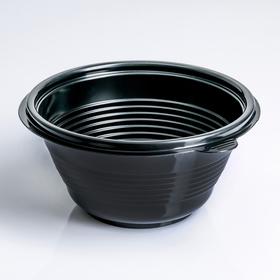 Контейнер ПР-МС-500, круглый, чёрный, 500 мл, 14,4х7 см Ош