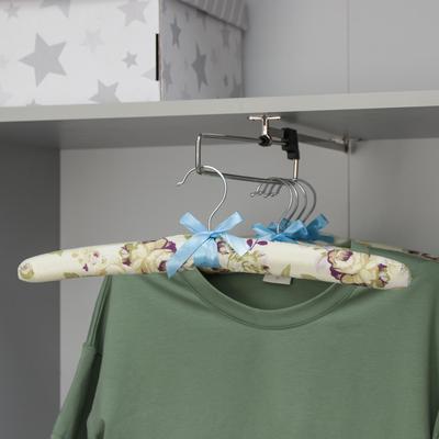 Вешалка мягкая «Розочки», размер 40-44, цвет бежево-сиреневый