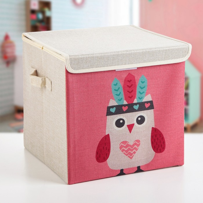 "Короб для хранения 30×30×28,5 см ""Совушка-индеец"""