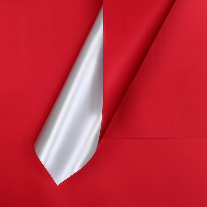 Пленка матовая двусторонняя 60 х 60 см, цвет бордовый/серебряный