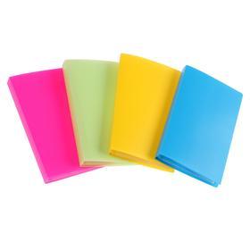 Визитница 60 карт, 3 карты на 1 листе, обложка пластик, МИКС, CALLIGRATA Ош