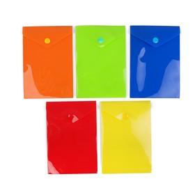 Папка-конверт на кнопке, формат А6, 180 мкр, вертикальная, глянцевая, МИКС, CALLIGRATA Ош