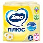 Туалетная бумага Zewa Плюс «Ромашка», 2 слоя, 8 рулонов
