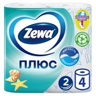 Туалетная бумага Zewa Плюс «Свежесть океана», 2 слоя, 4 шт.