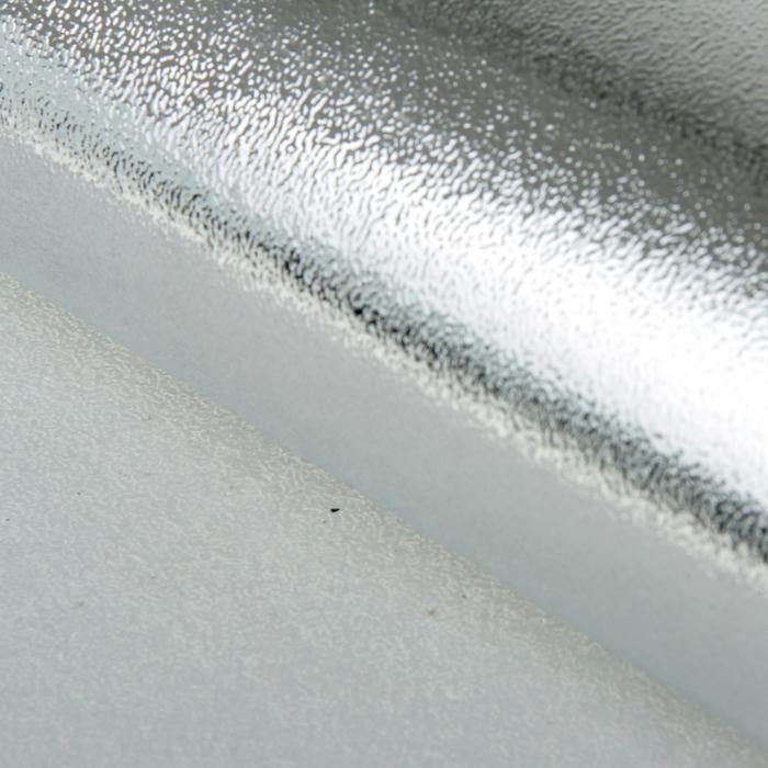 Бумага упаковочная фольгированная, серебро, 50 х 70 см