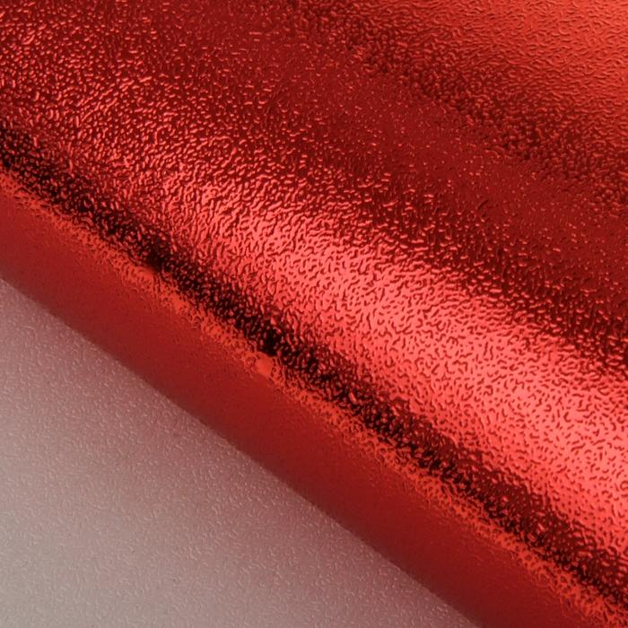 Бумага упаковочная фольгированная, красный, 50 х 70 см