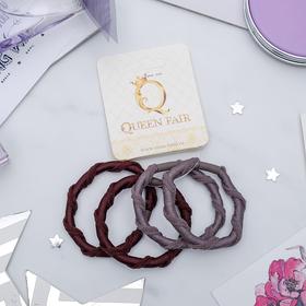 Резинка для волос 'Плетёнка' (цена за штуку) серый и коричневый Ош