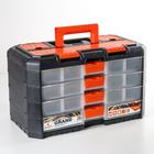 Органайзер для инструментов Grand, 4 секции, цвет черно-оранжевый