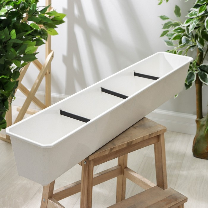 Балконный ящик, 100 см, цвет мраморный
