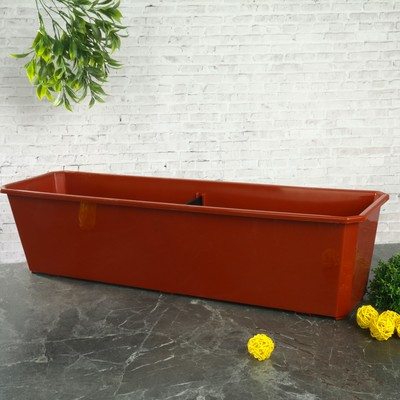 Ящик балконный, 60 см, цвет терракотовый - Фото 1