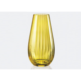 Ваза для цветов «Оптика», цвет жёлтый, 24,5 см