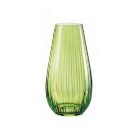 Ваза для цветов «Оптика», цвет зелёный, 24,5 см
