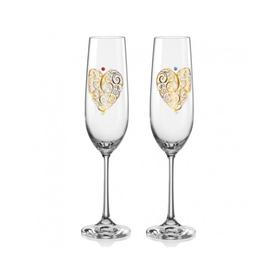 Набор бокалов для шампанского «Виола», 190 мл, 2 шт.