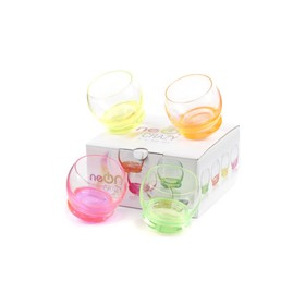Набор стаканов для водки «Крэйзи» 60 мл, 4 шт