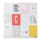 "Бумага для скрапбукинга ""Карточки ""Scrapgirl"" 30.5х30.5 см, 190 гр/м2"
