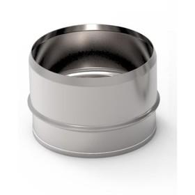 Заглушка глухая, d 80 мм, нержавейка, внутренняя Ош
