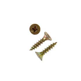 Саморезы универсальные TECH-KREP, ШУж, 4.5х20 мм, жёлтый цинк, потай, 13000 шт.