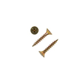 Саморезы универсальные TECH-KREP, ШУж, 4.5х25 мм, жёлтый цинк, потай, 10000 шт.