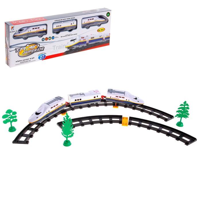 Железная дорога «Скоростной электропоезд», световые эффекты, 27 деталей