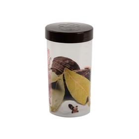 Емкость для хранения Oursson 1 л, 9,5 × 9,5 × 18 см, тёмный орех